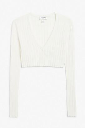 Monki Cropped cardigan top