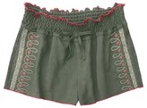 Franki & Jack Girls' Franki & Jack Embroidered Shorts - Olive