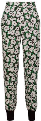 Stella McCartney Julia Floral-print Stretch-cady Tapered Pants