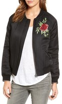 Velvet by Graham & Spencer Women's Embroidered Bomber Jacket