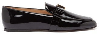 Tod's T-plaque Bow Patent-leather Loafers - Black