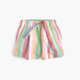 J.Crew Girls' pull-on short in candy stripe