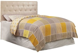 Hokku Designs Sarina Upholstered Panel Headboard Size: Full/Queen, Upholstery: White