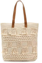Straw Studios Women's White Canvas Tote