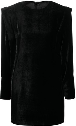 Isabel Marant Structured Shoulder Silk Dress
