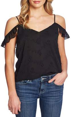 Cynthia Steffe CeCe by Embroidered Cold Shoulder Blouse