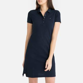 Tommy Hilfiger Short Stretch Cotton Polo Dress with Short Sleeves