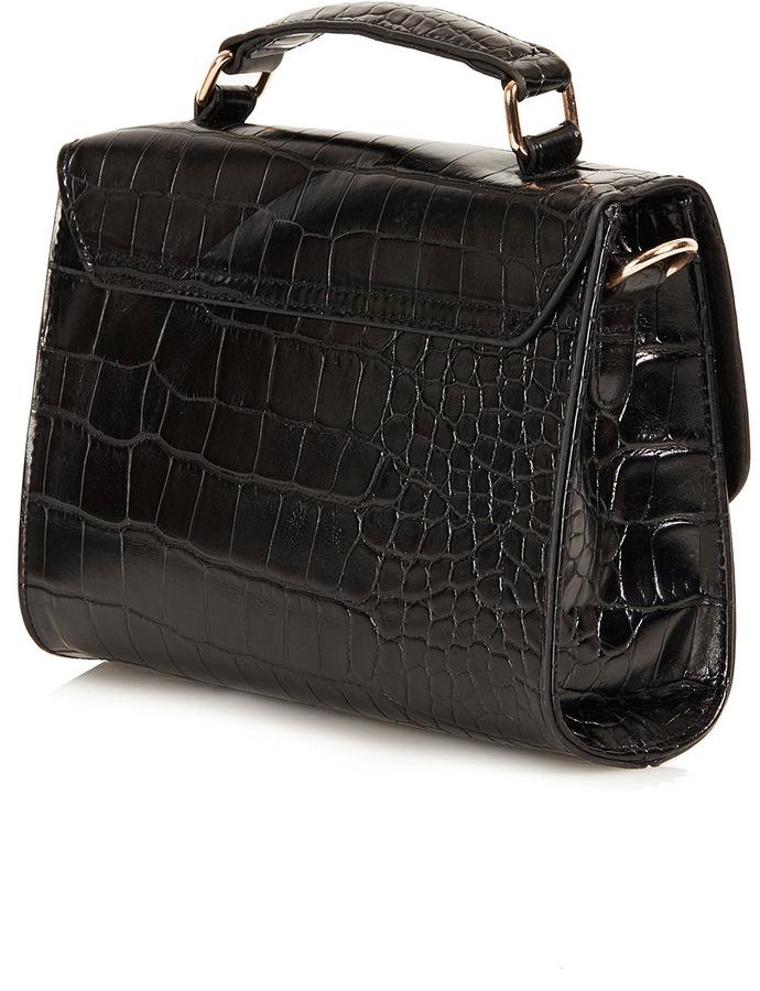 Topshop Smart Croc Crossbody Bag