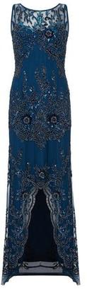 Ariella London Ariella Havana Beaded High Low Dress
