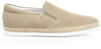 Tod's Pantofola Suede Slip-Ons