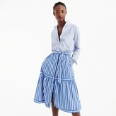 J.Crew Petite button-front striped skirt