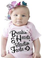 Infant Jumpsuit,Morecome Girl Short Sleeve Letter Print Romper (6M, )
