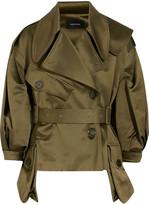 Simone Rocha Cotton-blend Sateen Jacket - Army green