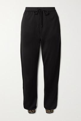 Versace Printed Jersey Track Pants - Black