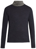 Paul Smith Roll-neck Double-faced Wool-blend Sweater