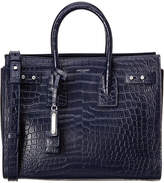 Saint Laurent Small Sac De Jour Croc- Embossed Leather Satchel