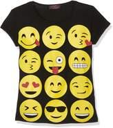 Exciteclothing Girls Emoji Short Sleeved T Shirt