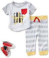 Baby Starters Baby Boys 3-9 Months Cool Baby Shirt, Striped Pants & Star Shoes Set