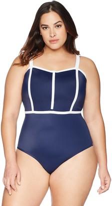 Coastal Blue Women's Plus Size One Piece Swimsuit