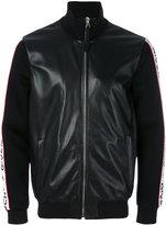Givenchy logo stripe bomber jacket - men - Lamb Skin/Polyester/Spandex/Elastane/Viscose - 50