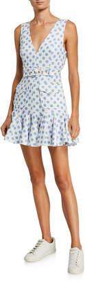 Zimmermann Super Eight Safari Polka-Dot Sleeveless Mini Dress