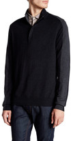 Perry Ellis Colorblock Long Sleeve Quarter Zip Pullover