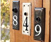 Antique Key Plate House Numbers