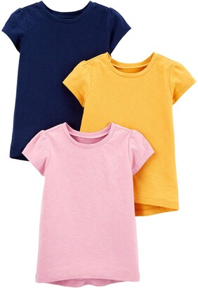Simple Joys by Carter's 3-Pack Solid Short-Sleeve Tee Shirts