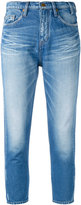 Jil Sander faded cropped skinny jeans
