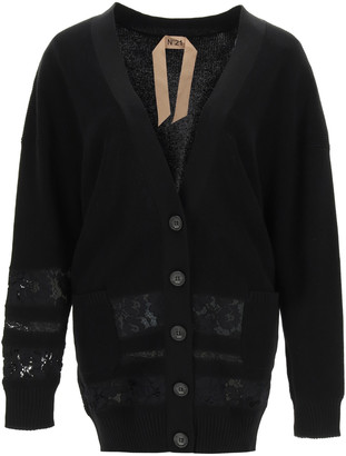 N°21 N.21 Cardigan With Lace