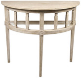CFC Reclaimed Demilune Console - Unfinished gray wash