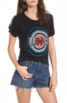 Mimichica Women's Mimi Chica The Who Cold Shoulder Graphic Tee