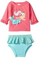 Mud Pie Mermaid Rashguard Bikini Set (Toddler)