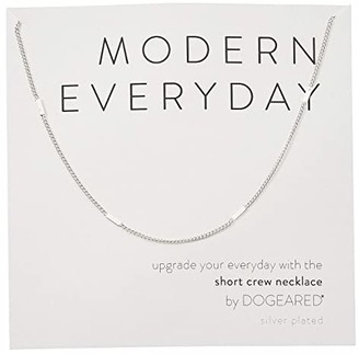 Dogeared Modern Everyday, Short Crew Neck Necklace (Sterling Silver) Necklace