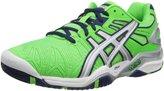 Asics GELResolution 5 Mens Tennis Shoes 9.5 Neon Green-Lightning-Navy