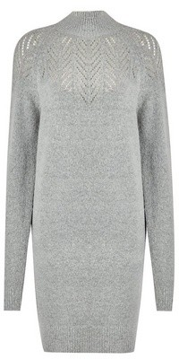 Dorothy Perkins Womens Dp Tall Grey Tunic Jumper, Grey
