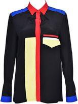 Versace Color Block Stripe Shirt