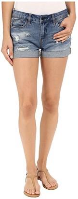 Blank NYC Denim Cuffed Distressed Shorts in Weekend Warrior