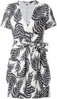 Patbo Palm print mini wrap dress