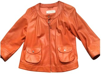Gerard Darel Orange Leather Coat for Women