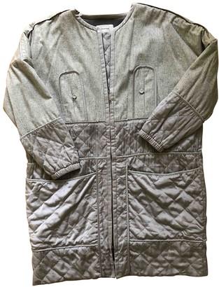 MUNTHE Silver Wool Coats