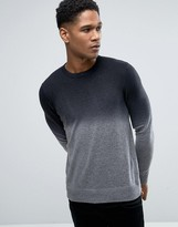 Celio Knitted Jumper With Colour Fade Detail