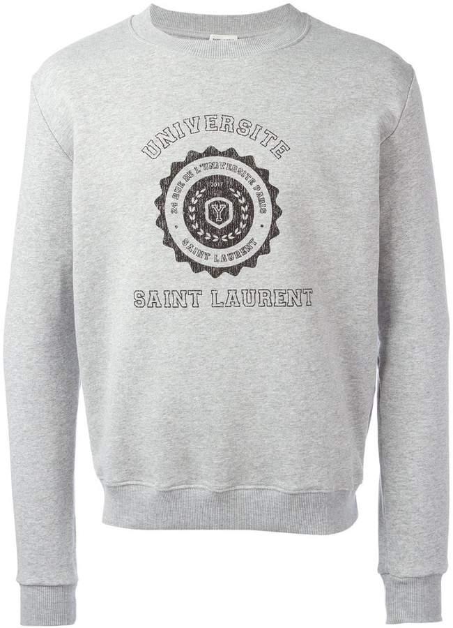 Saint Laurent printed motif sweatshirt