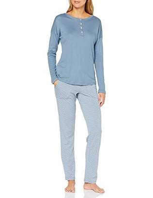 Marc O'Polo Body & Beach Women's W-loungeset Ls Henley Pyjama Set,12 (Size: Medium)