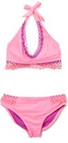 Vigoss Cactus Flower Sofie Crochet-Accent Bikini - Girls