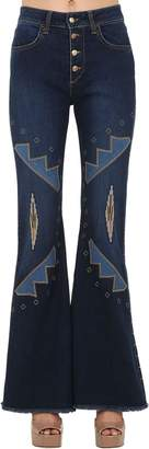 Shaft Jeans LARA EMBROIDERED STRETCH DENIM JEANS