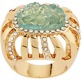 Kara Ross As Is Goldtone Simulated Drusy & Crystal Ring