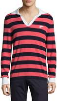 Michael Bastian Men's Fully Fashioned Cotton Rugby