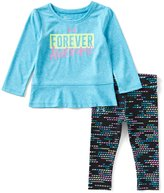 Under Armour Baby Girls 12-24 Months Forever Awesome Peplum Tee & Printed Legging Set