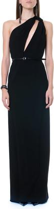 Saint Laurent Sable One Shoulder Black Color Long Dress